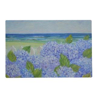 Hydrangeas por el mar tapete individual