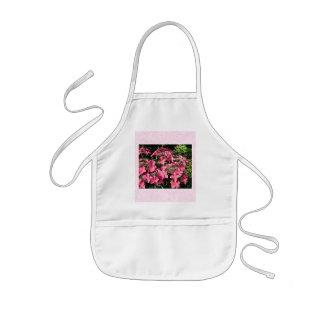 Hydrangeas. Pretty Pink Flowers. Aprons