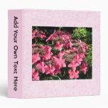 Hydrangeas. Pretty Pink Flowers. Binders