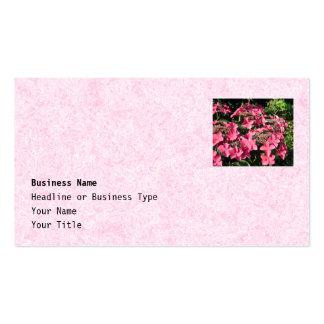 Hydrangeas. Pretty Pink Flowers. Business Card Templates