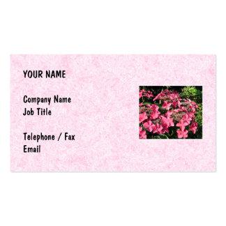 Hydrangeas. Pretty Pink Flowers. Business Card