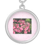 Hydrangeas. Pretty Pink Flowers. Necklaces