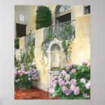 Hydrangeas purpúreos claros en la plena floración posters