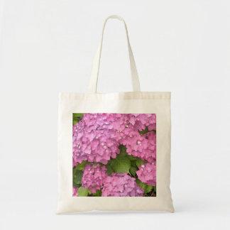 Hydrangeas rosados bolsa lienzo