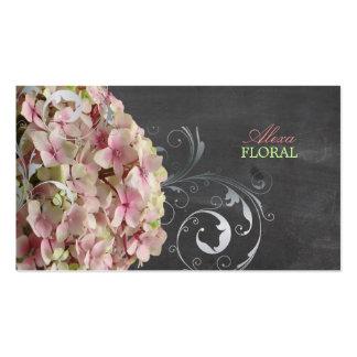 Hydrangeas rosados de PixDezines, floristas/pizarr Plantillas De Tarjeta De Negocio
