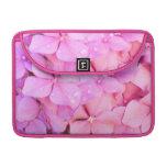 Hydrangeas rosados funda macbook pro