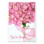Hydrangeas rosados invitación 8,9 x 12,7 cm