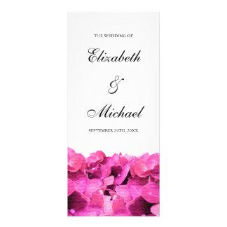 Hydrangeas rosados que casan programa lonas publicitarias