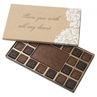 Hydrangeas Rustic Love You With All My Heart 45 Piece Box Of Chocolates
