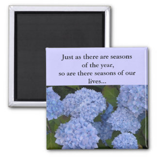 Hydrangeas Seasons of our Lives 2 Inch Square Magnet
