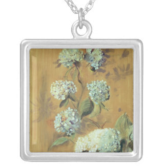 Hydrangeas Silver Plated Necklace
