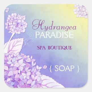 Hydrangeas Spa Business Product Label