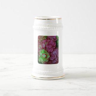 Hydrangeas verdes y rosados tazas