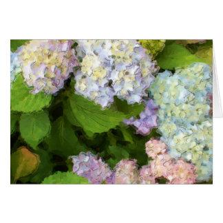 Hydrangeas Watercolor Greeting Card