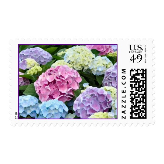Hydrangeas Watercolor Postage