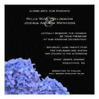 Hydrangeas Wedding Invitation