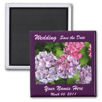 Hydrangeas Wedding Magnet