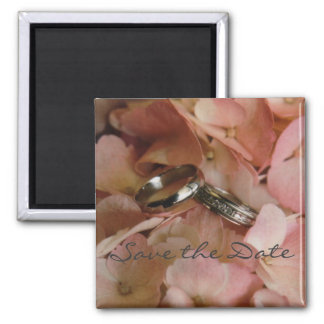 Hydrangia & Wedding Bands Save the Date Magnet
