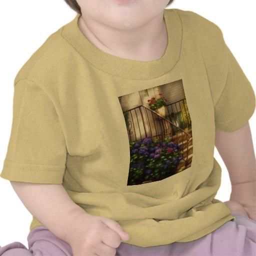 Hydrangia y geranios camisetas