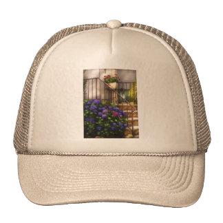 Hydrangia y geranios gorras de camionero