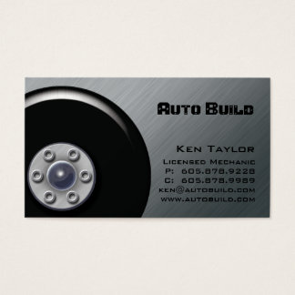 Hydraulic Automobile / Auto Mechanic Business Card