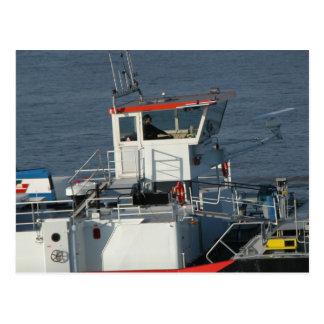 Hydraulic bridge and latest navigational aids postcard
