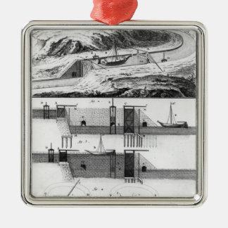 Hydraulic, canal and locks metal ornament