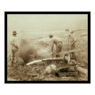 Hydraulic Mining for Gold in Rockerville SD 1889 Poster