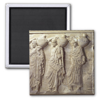Hydria carriers from the North Frieze 2 Inch Square Magnet