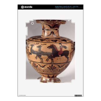 Hydria, hunting scene, Archaic Greek, black figure Decals For iPad 3