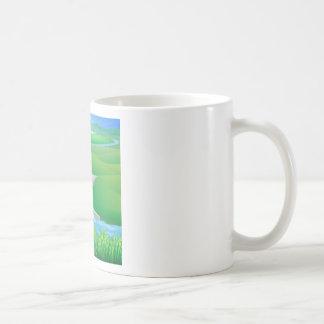 Hydro dam water power energy illustration coffee mugs