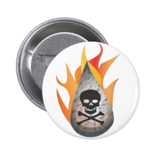 Hydro-frack water on fire 2 inch round button