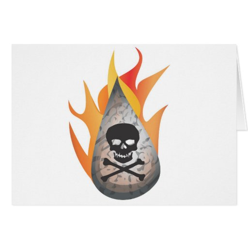 Hydro-frack water on fire greeting cards