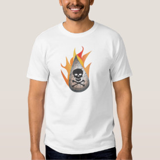 Hydro-frack water on fire t shirt