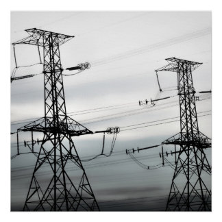 Hydro Towers Canvas Gloss Print