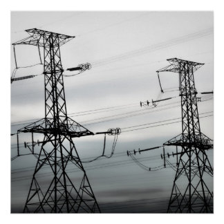 Hydro Towers Matte Paper Poster