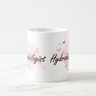 Hydrobiologist Artistic Job Design with Butterflie Coffee Mug