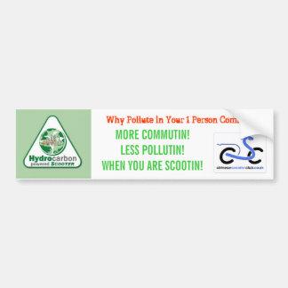 Hydrocarbon Power'd Scooter Sticker Bumper Sticker