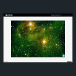 "HYDROCARBONS IN SPACE LAPTOP SKINS<br><div class=""desc"">Two extremely bright stars illuminate a mist of  Polycyclic aromatic hydrocarbon or PAHs in this Spitzer image.</div>"