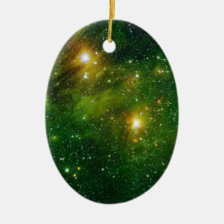 HYDROCARBONS IN SPACE Double-Sided OVAL CERAMIC CHRISTMAS ORNAMENT