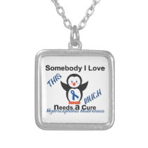 Hydrocephalus Awareness Someone I Love Silver Plated Necklace