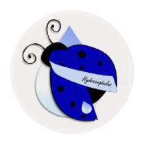 Hydrocephalus Cupcake toppers Edible Frosting Rounds