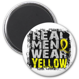 Hydrocephalus Real Men Wear Yellow 2 Inch Round Magnet