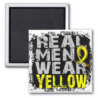 Hydrocephalus Real Men Wear Yellow 2 Inch Square Magnet
