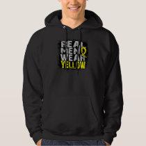 Hydrocephalus Real Men Wear Yellow Hoodie