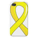 Hydrocephalus Yellow Ribbon 3 iPhone 4/4S Case