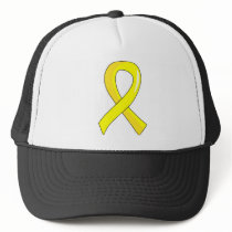 Hydrocephalus Yellow Ribbon 3 Trucker Hat