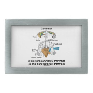 Hydroelectric Power Is My Source Of Power Belt Buckle