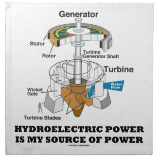 Hydroelectric Power Is My Source Of Power Printed Napkin