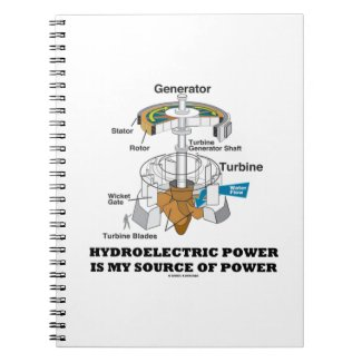 Hydroelectric Power Is My Source Of Power Note Book
